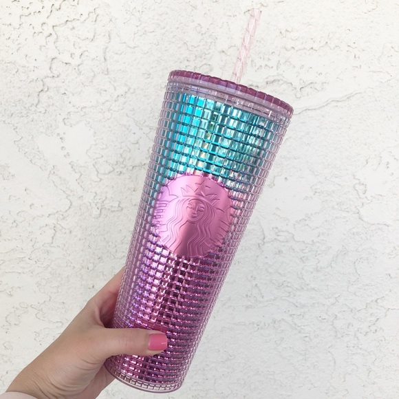 Starbucks Studded Tumbler May 2021 Pink and Blue